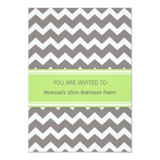 Invitaciones de la fiesta de cumpleaños de Chevron Invitación 12,7 X 17,8 Cm