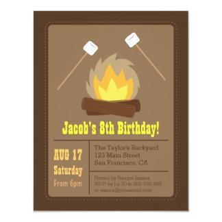 """Invitaciones de la fiesta de cumpleaños de la invitación 4.25"""" x 5.5"""""""