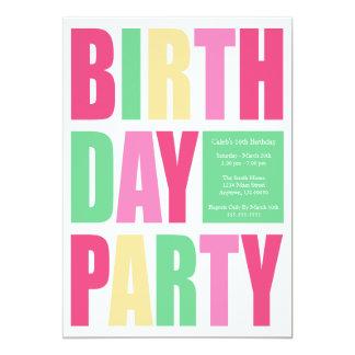 Invitaciones de la fiesta de cumpleaños de la comunicados personalizados
