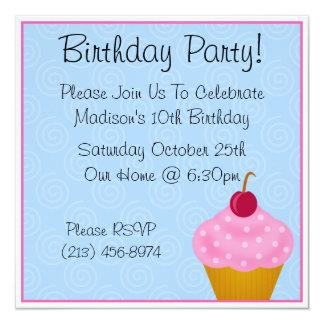 Invitaciones de la fiesta de cumpleaños de la invitación 13,3 cm x 13,3cm