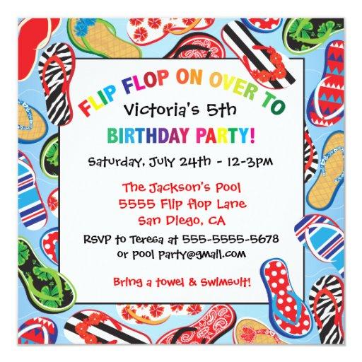 """Invitaciones de la fiesta de cumpleaños de la invitación 5.25"""" x 5.25"""""""