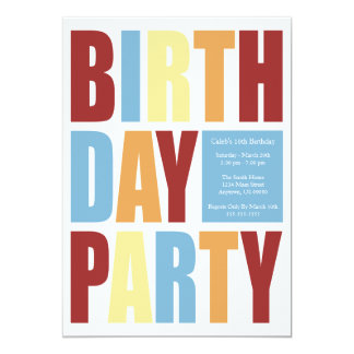 Invitaciones de la fiesta de cumpleaños de la invitacion personalizada