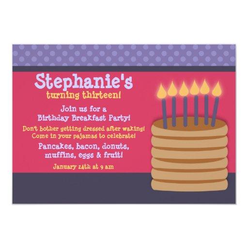 Invitaciones de la fiesta de cumpleaños de la comunicados