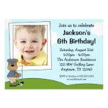 Invitaciones de la fiesta de cumpleaños de la foto