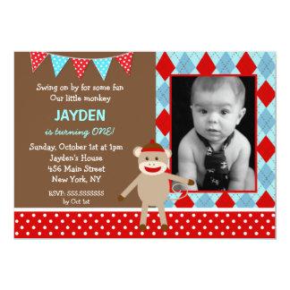 Invitaciones de la fiesta de cumpleaños de la foto comunicado personalizado