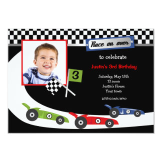 Invitaciones de la fiesta de cumpleaños de la foto invitación 12,7 x 17,8 cm
