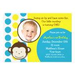 Invitaciones de la fiesta de cumpleaños de la foto anuncio personalizado