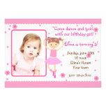 Invitaciones de la fiesta de cumpleaños de la foto comunicados personales