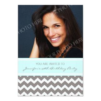 Invitaciones de la fiesta de cumpleaños de la foto invitación personalizada