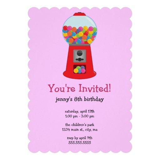 Invitaciones de la fiesta de cumpleaños de la máqu invitaciones personales