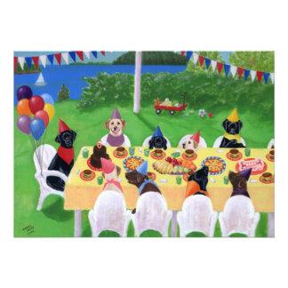 Invitaciones de la fiesta de cumpleaños de Labrado Invitación Personalizada