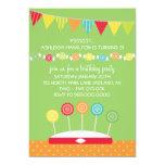 Invitaciones de la fiesta de cumpleaños de los comunicados personalizados