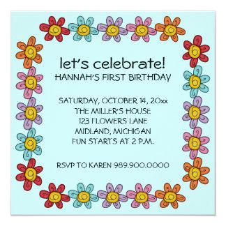 Invitaciones de la fiesta de cumpleaños de los invitación 13,3 cm x 13,3cm