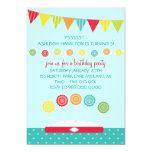 Invitaciones de la fiesta de cumpleaños de los comunicado personalizado