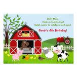 Invitaciones de la fiesta de cumpleaños de los ani