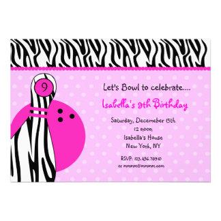 Invitaciones de la fiesta de cumpleaños de los bol invitacion personalizada