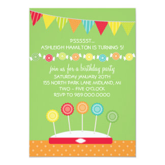 """Invitaciones de la fiesta de cumpleaños de los invitación 5"""" x 7"""""""