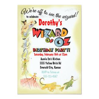 """Invitaciones de la fiesta de cumpleaños de mago de invitación 5"""" x 7"""""""
