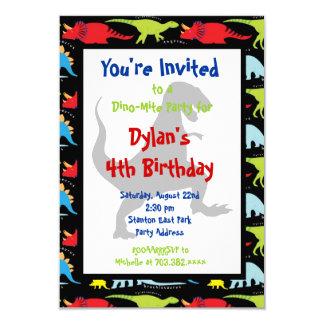 Invitaciones de la fiesta de cumpleaños del invitación 8,9 x 12,7 cm