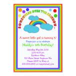 Invitaciones de la fiesta de cumpleaños del arco anuncio personalizado