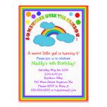 Invitaciones de la fiesta de cumpleaños del arco i anuncio personalizado