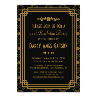 Invitaciones de la fiesta de cumpleaños del art invitación 12,7 x 17,8 cm