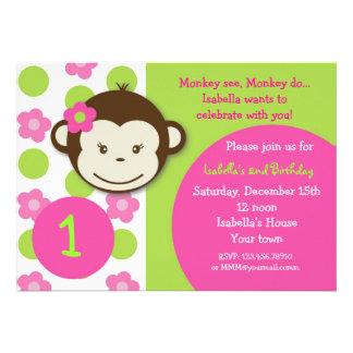 Invitaciones de la fiesta de cumpleaños del chica comunicado personalizado