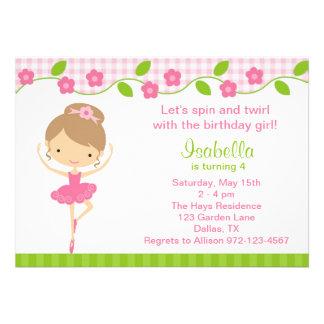 Invitaciones de la fiesta de cumpleaños del chica