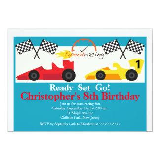 Invitaciones de la fiesta de cumpleaños del coche invitaciones personalizada