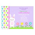 Invitaciones de la fiesta de cumpleaños del coneji anuncios personalizados