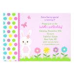 Invitaciones de la fiesta de cumpleaños del coneji comunicado