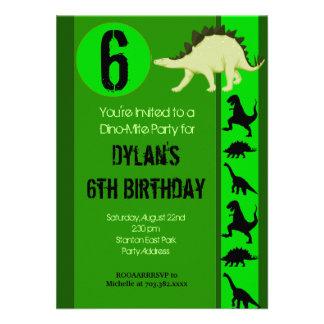 Invitaciones de la fiesta de cumpleaños del dinosa comunicado