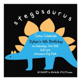 Invitaciones de la fiesta de cumpleaños del dinosa comunicados