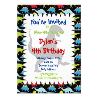 Invitaciones de la fiesta de cumpleaños del dinosa