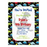 Invitaciones de la fiesta de cumpleaños del dinosa invitacion personalizada