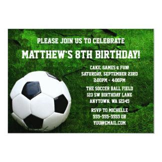 Invitaciones de la fiesta de cumpleaños del fútbol invitación 12,7 x 17,8 cm