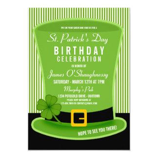 """Invitaciones de la fiesta de cumpleaños del gorra invitación 5"""" x 7"""""""