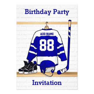 Invitaciones de la fiesta de cumpleaños del jersey comunicado personal