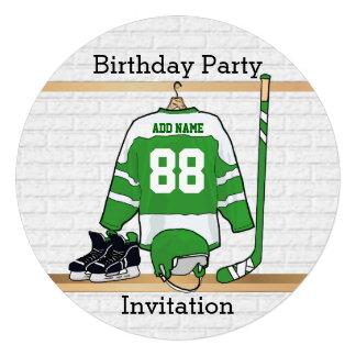 Invitaciones de la fiesta de cumpleaños del jersey