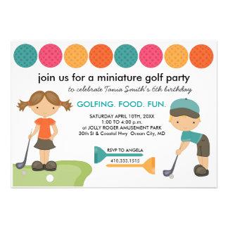 Invitaciones de la fiesta de cumpleaños del minigo invitación personalizada