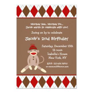 Invitaciones de la fiesta de cumpleaños del mono comunicados