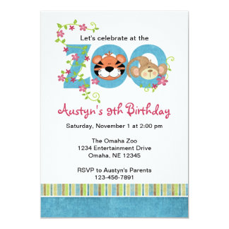 """Invitaciones de la fiesta de cumpleaños del parque invitación 5"""" x 7"""""""
