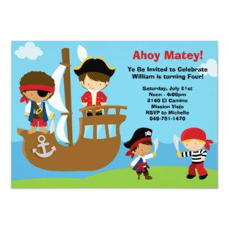 Invitaciones de la fiesta de cumpleaños del pirata comunicado personalizado