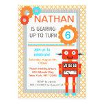 Invitaciones de la fiesta de cumpleaños del robot