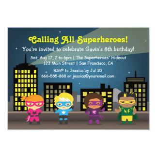 """Invitaciones de la fiesta de cumpleaños del super invitación 4.5"""" x 6.25"""""""