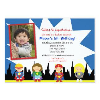 """Invitaciones de la fiesta de cumpleaños del super invitación 5"""" x 7"""""""