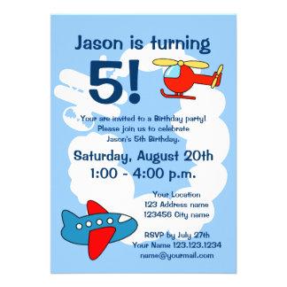 Invitaciones de la fiesta de cumpleaños del tema d comunicados personales