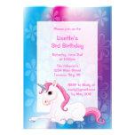 Invitaciones de la fiesta de cumpleaños del unicor