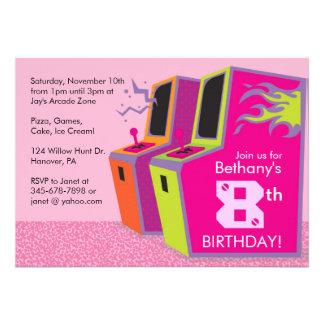 Invitaciones de la fiesta de cumpleaños del videoj
