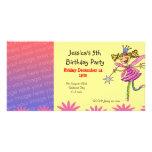 Invitaciones de la fiesta de cumpleaños (hada de l tarjeta fotografica